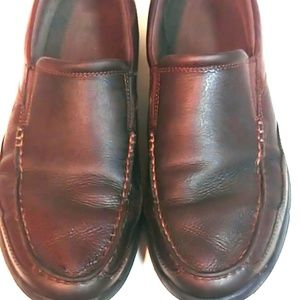 Rockport Brown Leather Slip Ons